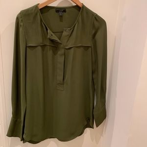 J.Crew olive green button down